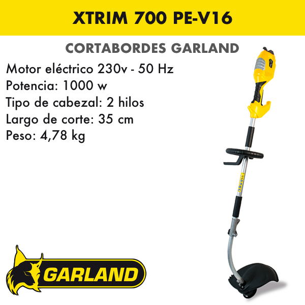 Cortabordes Garland Xtrim 700 PE-V16