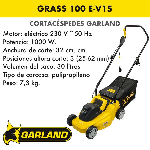 Cortacésped Garland Grass 100 E-V15