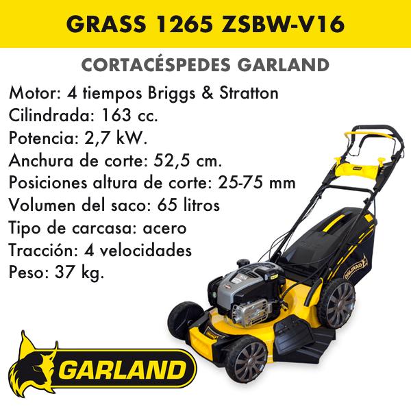 Cortacésped Garland Grass 1265 ZSBW-V16
