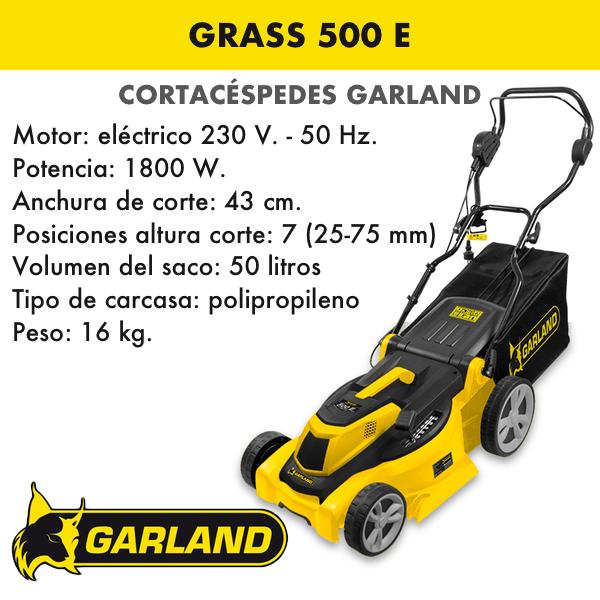 Cortacésped Garland Grass 500 E