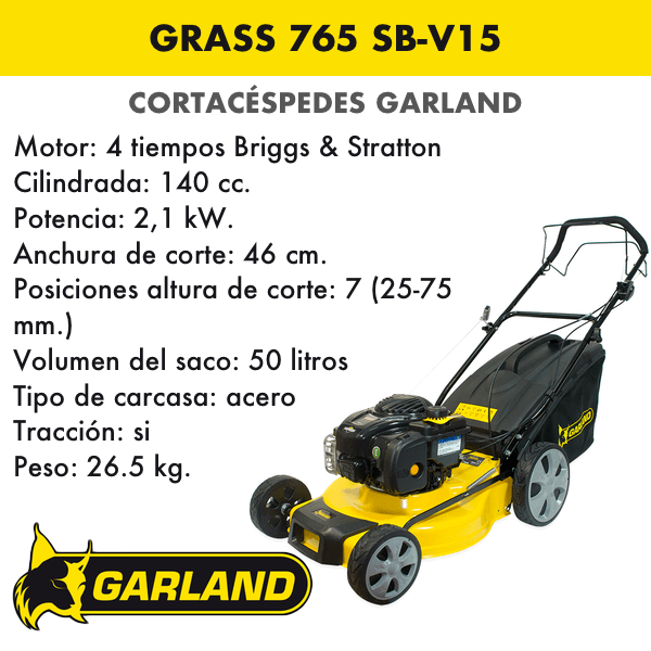 Cortacésped Garland Grass 765 SB-V15