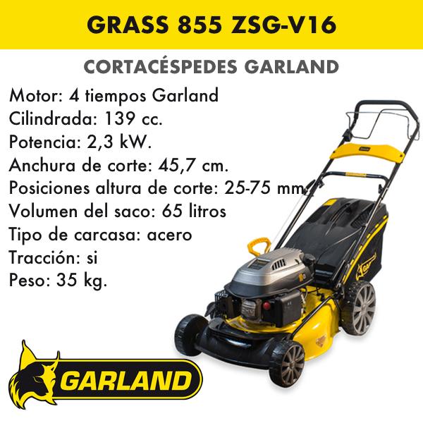 Cortacésped Garland Grass 855 ZSG-V16
