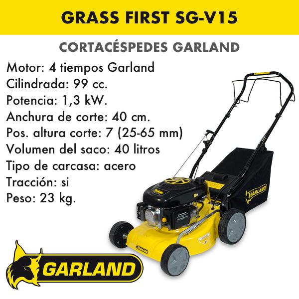 Cortacésped Garland Grass First SG-V15