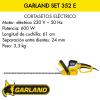 Cortasetos eléctrico Garland Set 352 E
