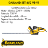 Cortasetos eléctrico Garland Set 652 VE-V1
