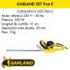 Cortasetos eléctrico Garland Set First E