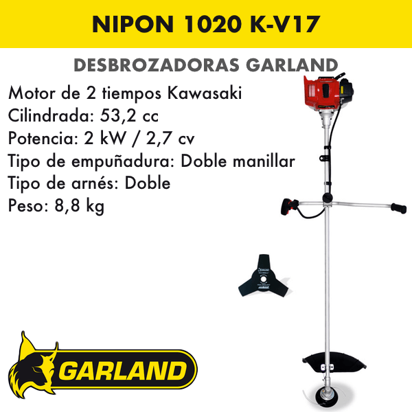 Desbrozadora Garland Nipon 1020 K-V17