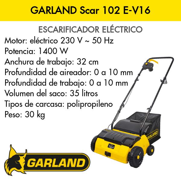 Escarificadora Garland Scar 102 E-V16