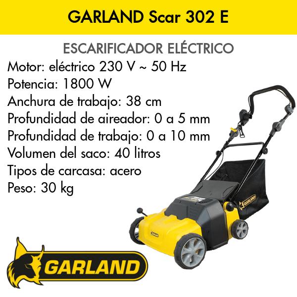 Escarificadora Garland Scar 302 E