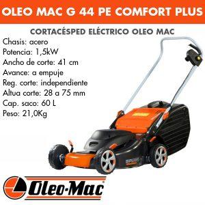 Cortacésped eléctrico Oleo Mac G 44 PE Comfort Plus