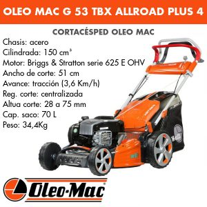 Cortacésped Oleo Mac G 53 TBX AllRoad Plus 4