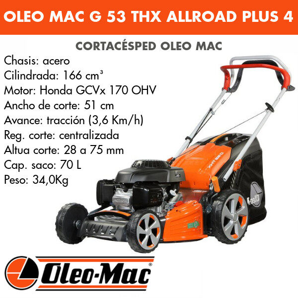 Cortacésped Oleo Mac G 53 THX AllRoad Plus 4