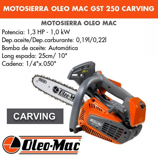 "Motosierra Oleo Mac GST 250 10"" Carving"