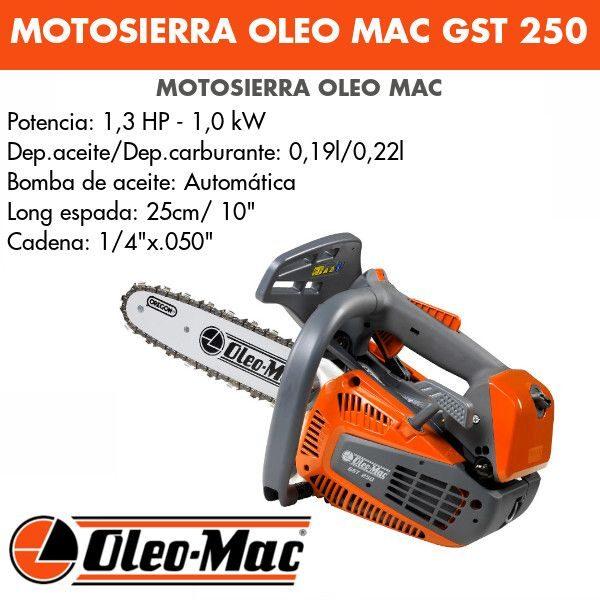 Motosierra Oleo Mac GST 250