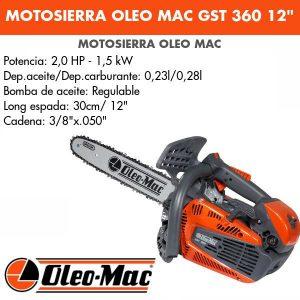 """Motosierra Oleo Mac GST 360 12"""""""