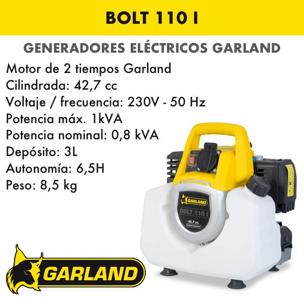 Generador eléctrico Garland Bolt 110 l