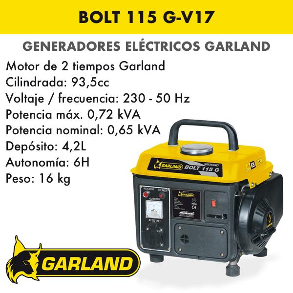 Generador eléctrico Garland Bolt 115 G-V17