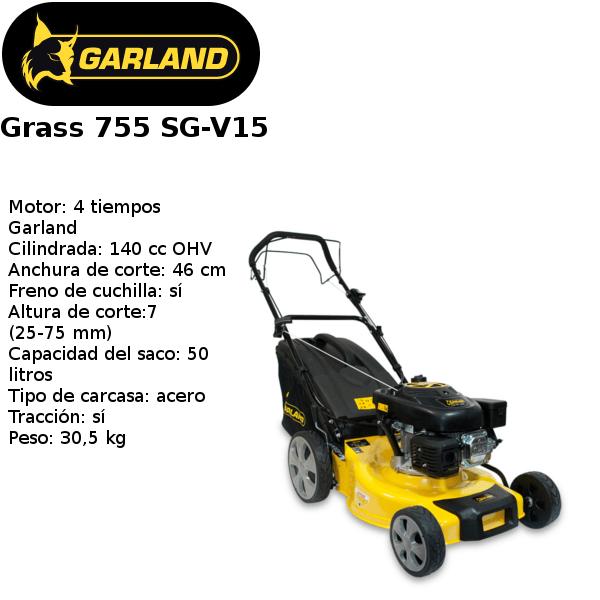 cortacésped garland grass 755 sg-v15