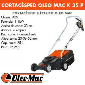 Cortacesped eléctrico Oleo Mac K-35P