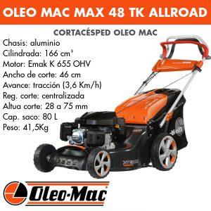 Cortacésped Oleo Mac Max 48 TK AllRoad Aluminium