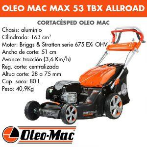 Cortacésped Oleo Mac Max 53 TBX AllRoad