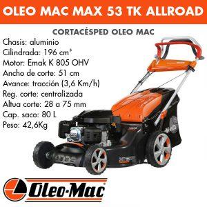 Cortacésped Oleo Mac Max 53 TK AllRoad