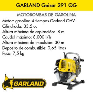 Motobombas GARLAND Geiser 291 QG