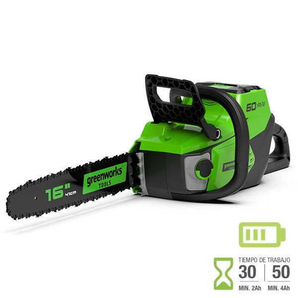 Motosierra batería Greenworks GD60CS40 60V