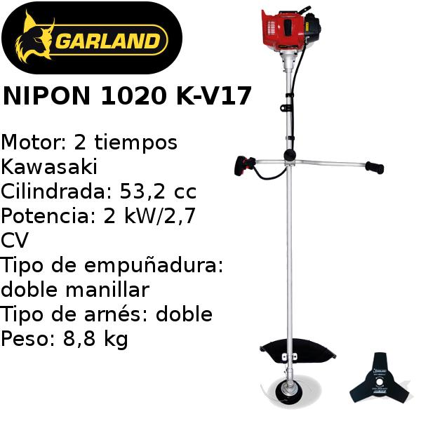 desbrozadora garland nipon 2020 k-v17