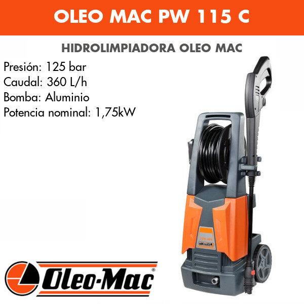 Hidrolimpiadora Oleo Mac PW 115 C