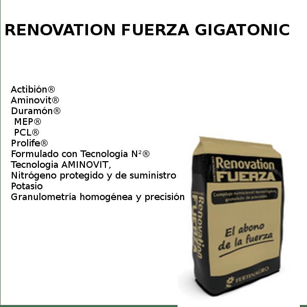 Renovation fuerza Gigatonic