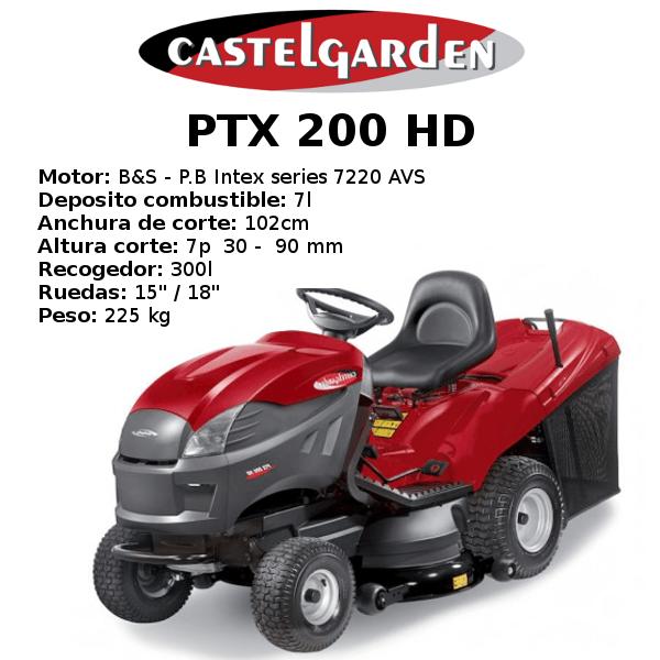 TRACTOR CORTACESPED CASTELGARDEN PTX 200 HD