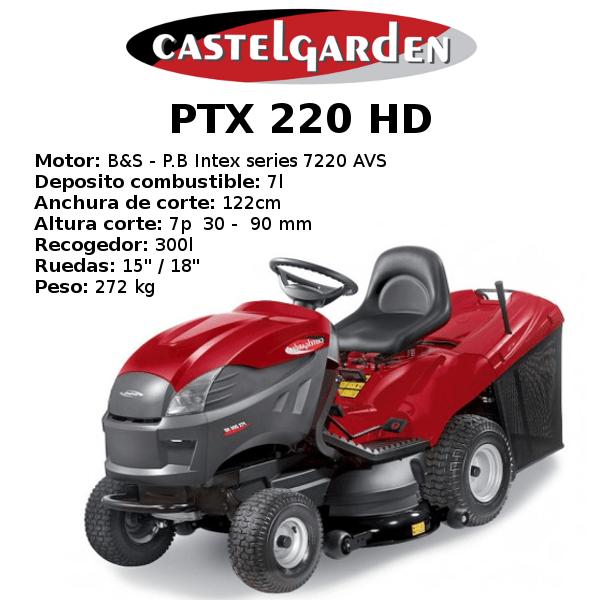 TRACTOR CORTACESPED CASTELGARDEN PTX 220 HD