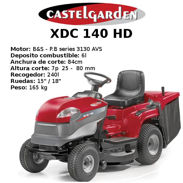 TRACTOR CORTACESPED CASTELGARDEN XDC 140 HD