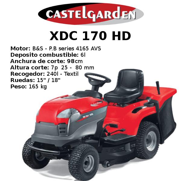 TRACTOR CORTACESPED CASTELGARDEN XDC 170 HD