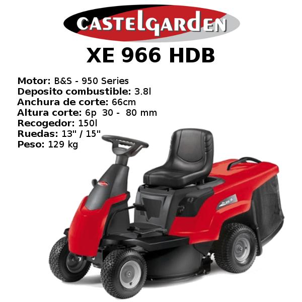 TRACTOR CORTACESPED CASTELGARDEN XE 966 HDB
