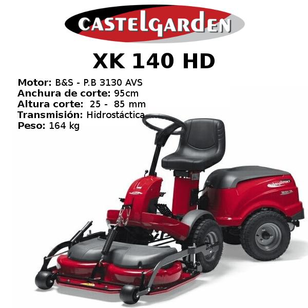 TRACTOR CORTACESPED CASTELGARDEN XK 140 HD