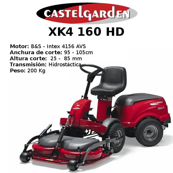 TRACTOR CORTACESPED CASTELGARDEN XK4 160 HD
