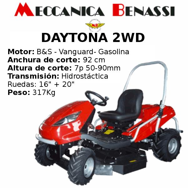 Tractor Cortacesped Mecanica Benassi DAYTONA 2WD