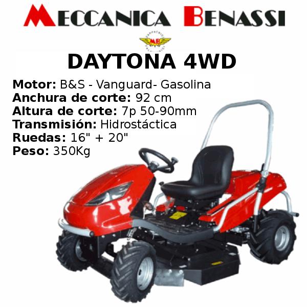 Tractor Cortacesped Mecanica Benassi DAYTONA 4WD