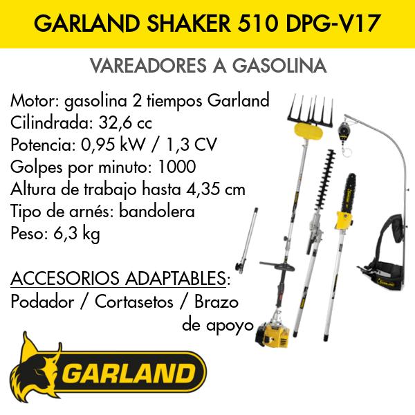 Vareador Garland Shaker 510 DPG-V17 completa
