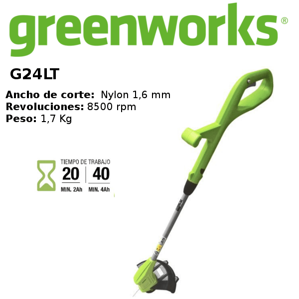 desbrozadora-greenworks G24LT