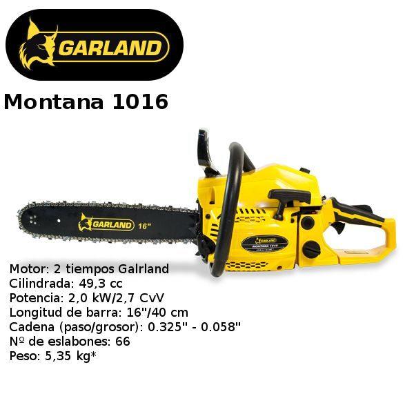 motosierra garland montana 1016