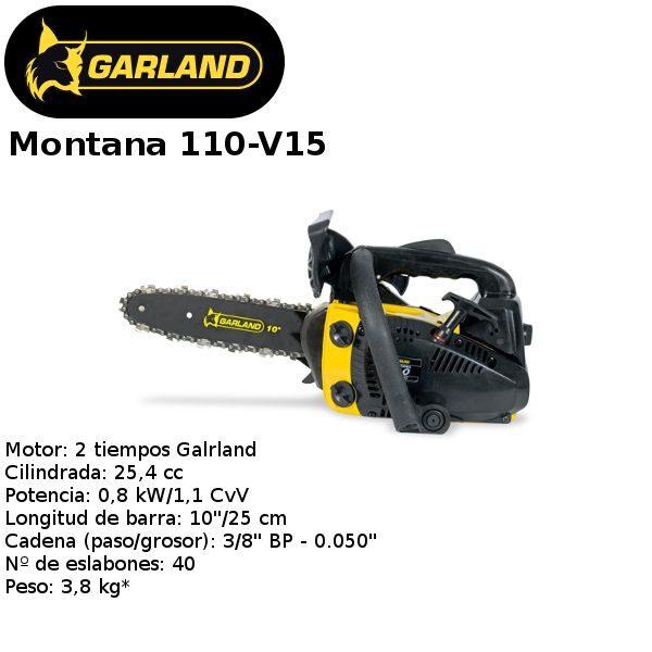 motosierra Garland Montana 110-V15