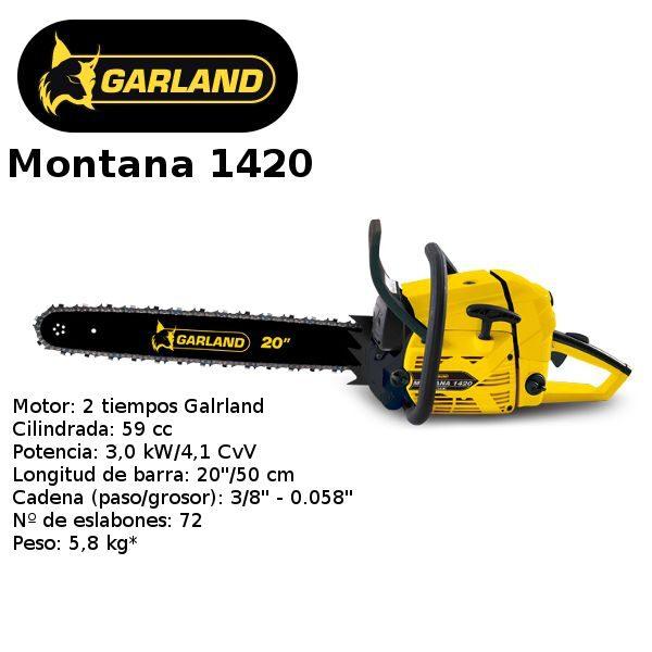 motosierra garland montana 1420