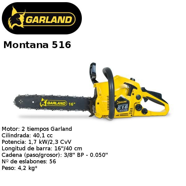 motosierra Garland Montana 516