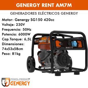 Generador eléctrico Genergy Rent AM7M