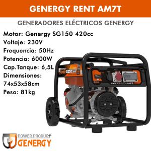 Generador eléctrico Genergy Rent AM7T