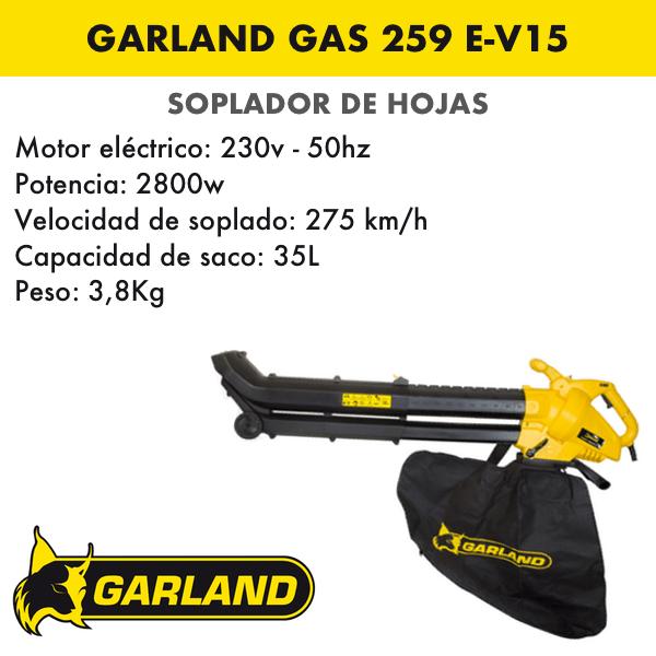 soplador de hojas garland Gas 259 E-V15