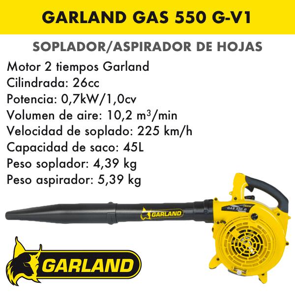soplador de hojas garland gas 550 g-v1